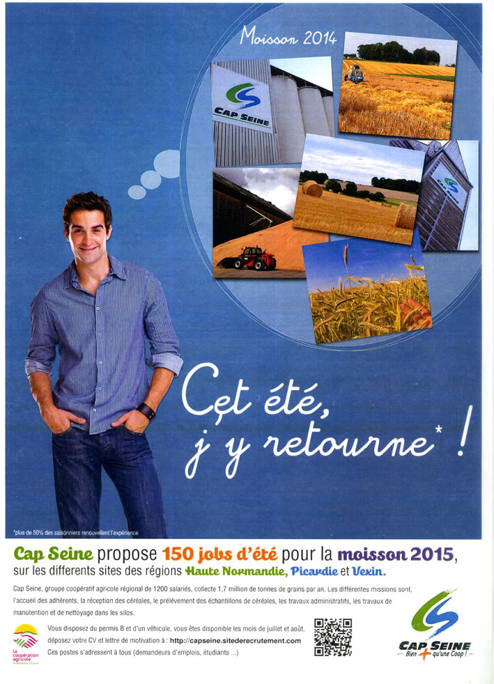 cap seine : jobs moisson